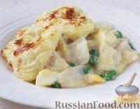 Фото к рецепту: Рыба с картофелем и зеленым горошком