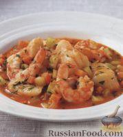 Фото к рецепту: Рыба тушеная с креветками