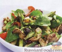 Фото к рецепту: Салат из овощей, жареных на гриле