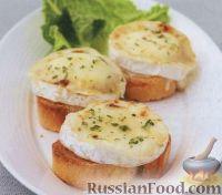 Фото к рецепту: Горячие бутерброды с козьим сыром, медом и орегано