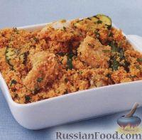 Фото к рецепту: Морская рыба с кускусом и цуккини
