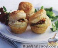 Фото к рецепту: Мини-пироги с курицей, грибами и овощами