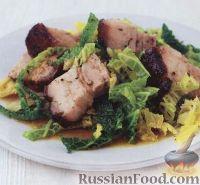 Фото к рецепту: Свиная грудинка (подчеревок) с капустой и тмином