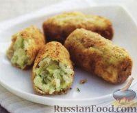 Фото к рецепту: Крокеты из картофеля с луком-пореем