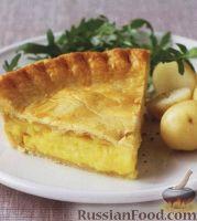 Фото к рецепту: Пирог с луком и сыром