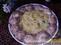 Фото к рецепту: Запеченные тефтели с макаронами