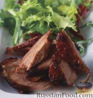 Фото к рецепту: Утка по-китайски, жаренная на гриле