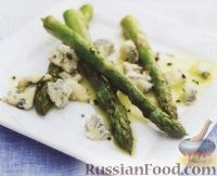 Фото к рецепту: Спаржа с сыром Горгонзола