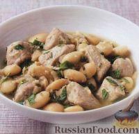 Фото к рецепту: Свинина с фасолью и мятой