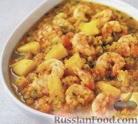 Фото к рецепту: Дхансак с креветками