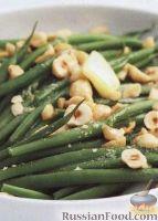 Фото к рецепту: Стручковая фасоль с жареными орехами