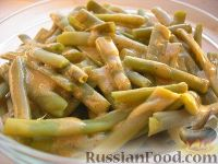 Фото к рецепту: Стручковая фасоль с пряным соусом