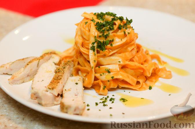 Рецепт Феттучини с куриной грудкой
