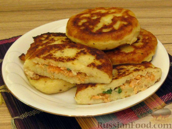 Рецепт Зразы картофельные с семгой