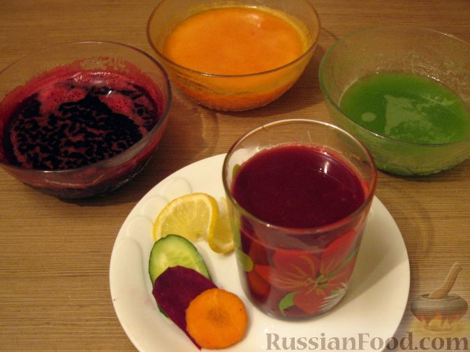 """Рецепт Овощной сок """"Чистое здоровье"""""""