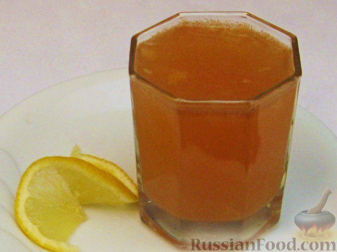 Рецепт Грушевый сок с лимоном и ванилью