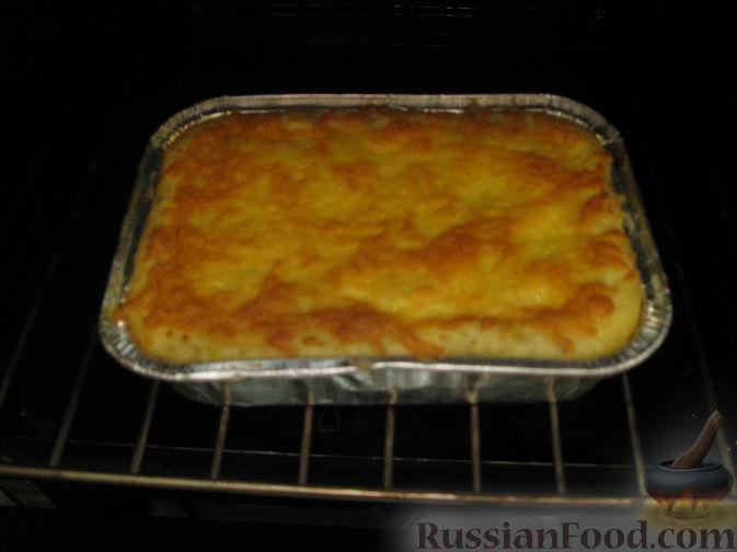 Картофельная запеканка с лососем в духовке