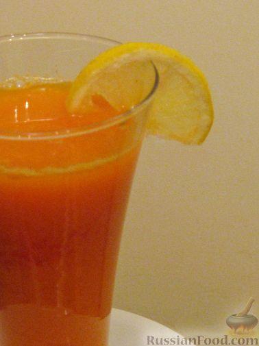 Рецепт Сок тыквенный с лимоном
