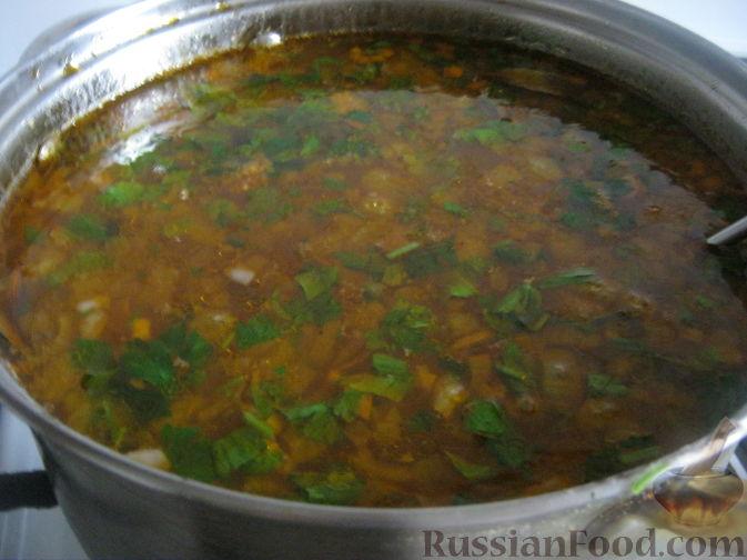 Фото приготовления рецепта: Рассольник овощной - шаг №10