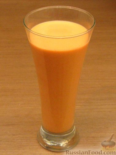 Рецепт Сок морковный со сливками