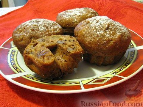 Рецепт Постные кексы-коврижки с орехами и сухофруктами