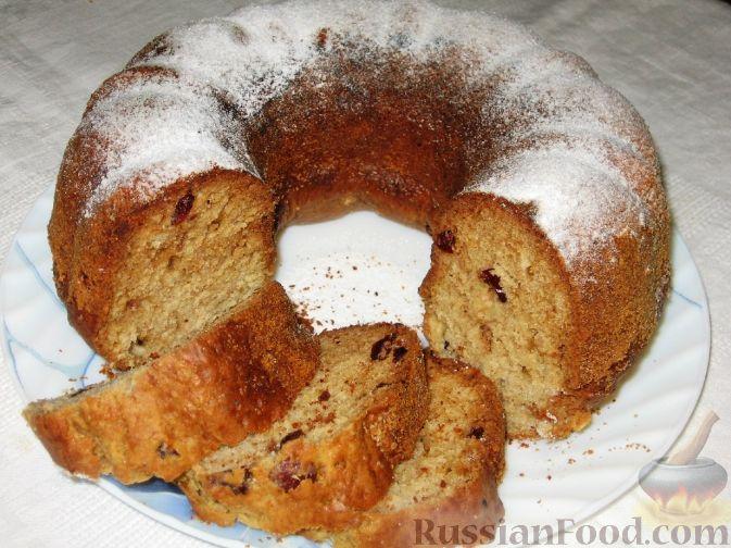 Рецепт Пряный кекс с вяленой клюквой