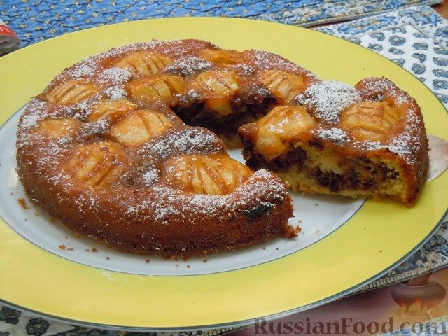 Рецепт Мраморный пирог с яблоками