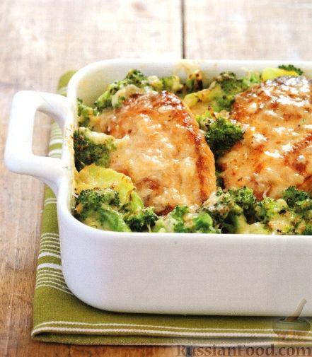 рецепт куриного суфле с броколи в духовке для ребенка