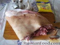 Фото приготовления рецепта: Рулет из свиного подчеревка - шаг №1