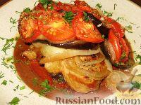 Фото к рецепту: Свинина, запеченная с баклажанами