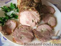 Фото к рецепту: Рулет из свиного подчеревка