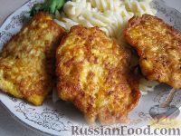Фото к рецепту: Куриные оладьи с тыквой