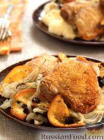 Фото к рецепту: Куриные крылышки с тушеным фенхелем
