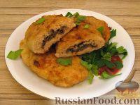 Фото к рецепту: Зразы из семги с грибной начинкой