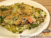 Фото к рецепту: Омлет с кабачками и креветками