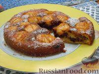 Фото к рецепту: Мраморный пирог с яблоками