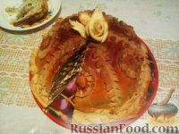 Фото к рецепту: Пирог курник из слоеного теста