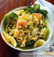 Фото к рецепту: Холодный салат из пасты и морепродуктов