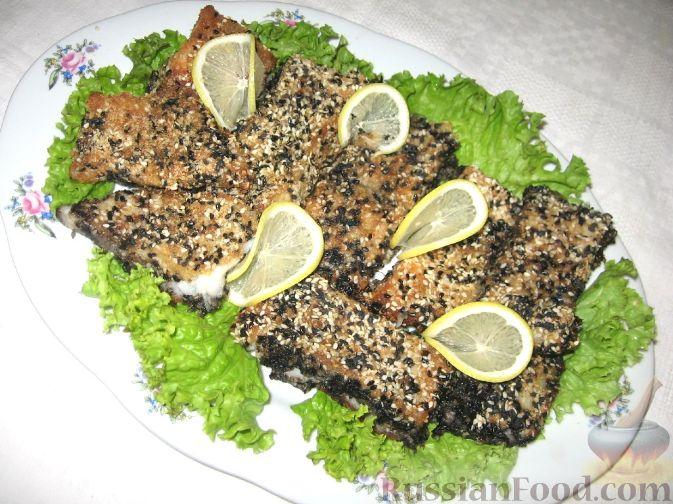 Рецепт Запеченное рыбное филе в кунжуте