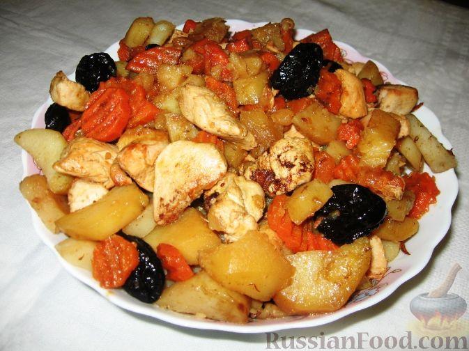 Цимес со сладкой картошкой рецепт