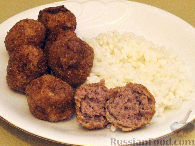 Рецепт Жареные фрикадельки из говядины