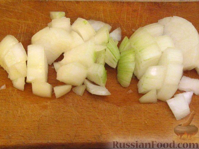 Фото приготовления рецепта: Крем-суп из баклажанов с помидорами - шаг №3
