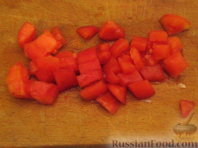 Фото приготовления рецепта: Крем-суп из баклажанов с помидорами - шаг №8