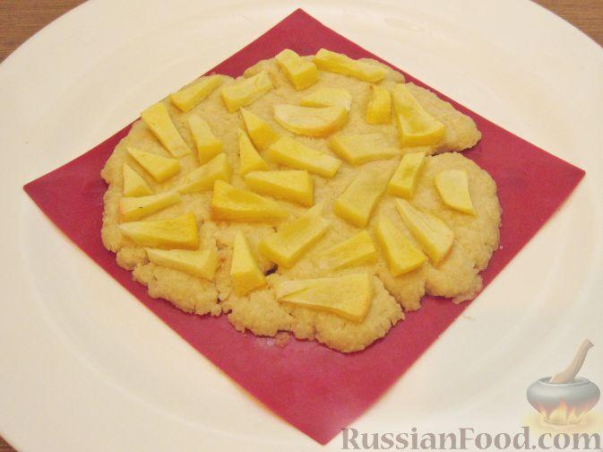 Рецепт Постная яблочная лепешка (в микроволновке)
