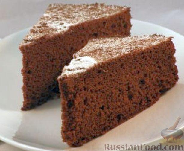 Рецепт Генуэзский шоколадный бисквит