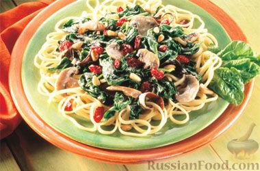 Рецепт Паста лингвини с клюквой по-флорентийски