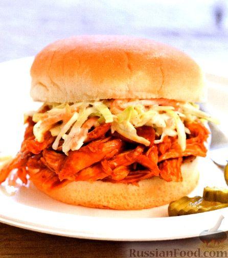 Рецепт Бургеры с куриным мясом и капустой