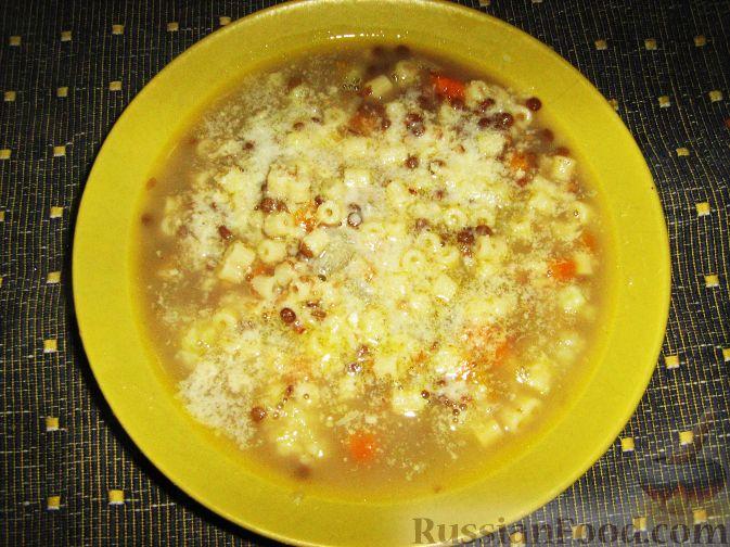 Рецепт Суп с пастой и чечевицей