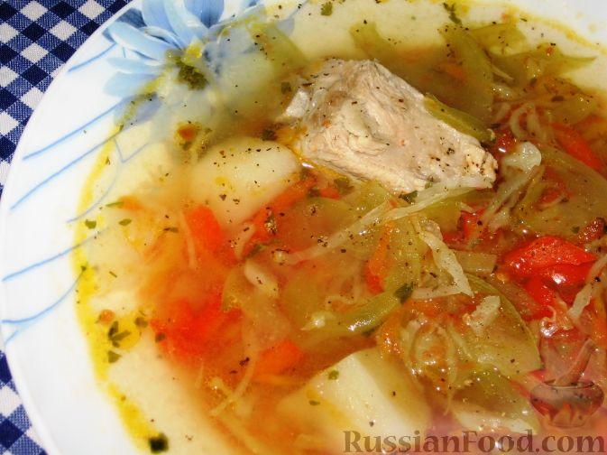 Фото к рецепту: Суп с зелеными помидорами