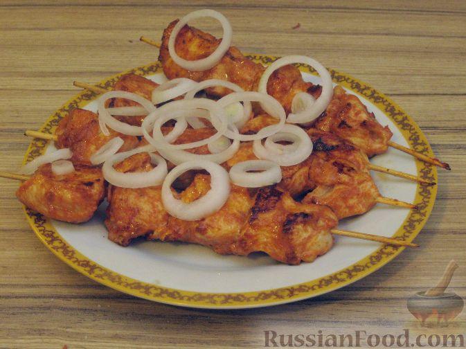 Рецепт Куриный шашлычок в красном маринаде